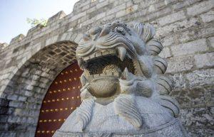 """""""宝庆府古城墙,在历代王朝中以其防御体系完整坚固著称,近代又是太平天国重要的战争遗址,很有历史意义_宝庆府古城墙""""的评论图片"""